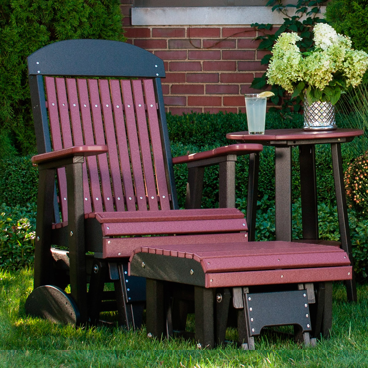 Amish outdoor glider grandin road outdoor furniture winnie chair grandin roa poly - Luxcraft fine outdoor furniture ...