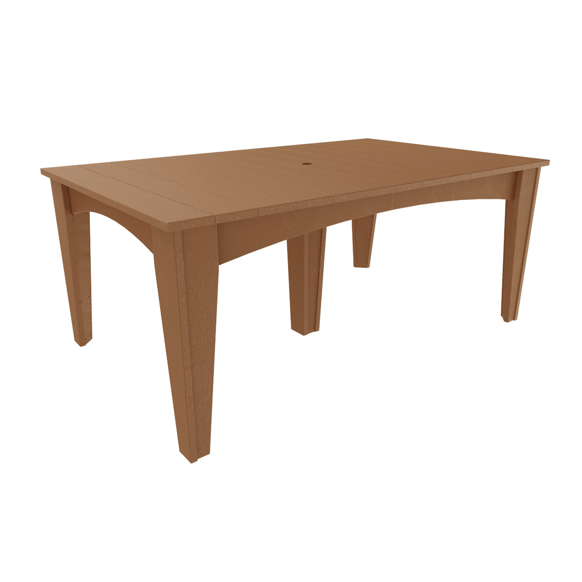 Island dining table 44 x 72 rectangular luxcraft - Luxcraft fine outdoor furniture ...