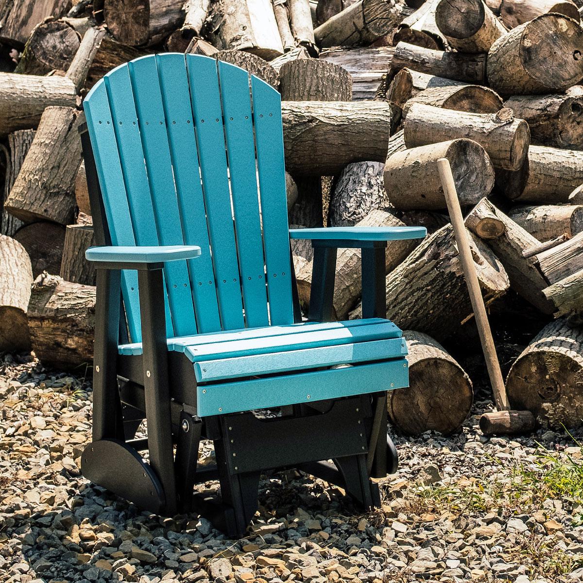 2 Adirondack Glider Chair Luxcraft