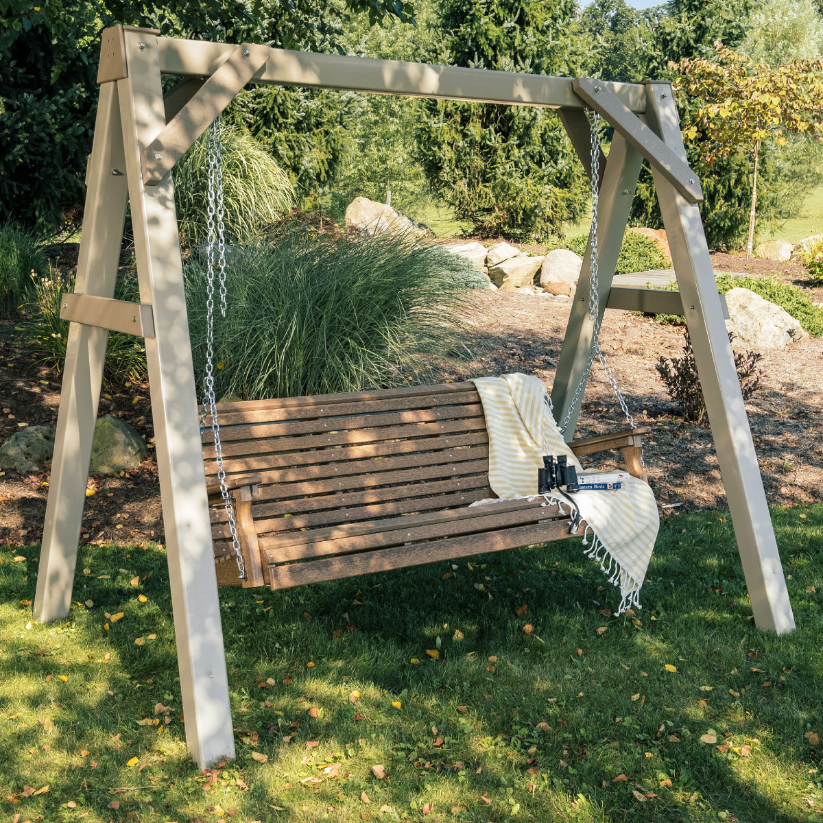 A Frame Vinyl Swing Stand Luxcraft