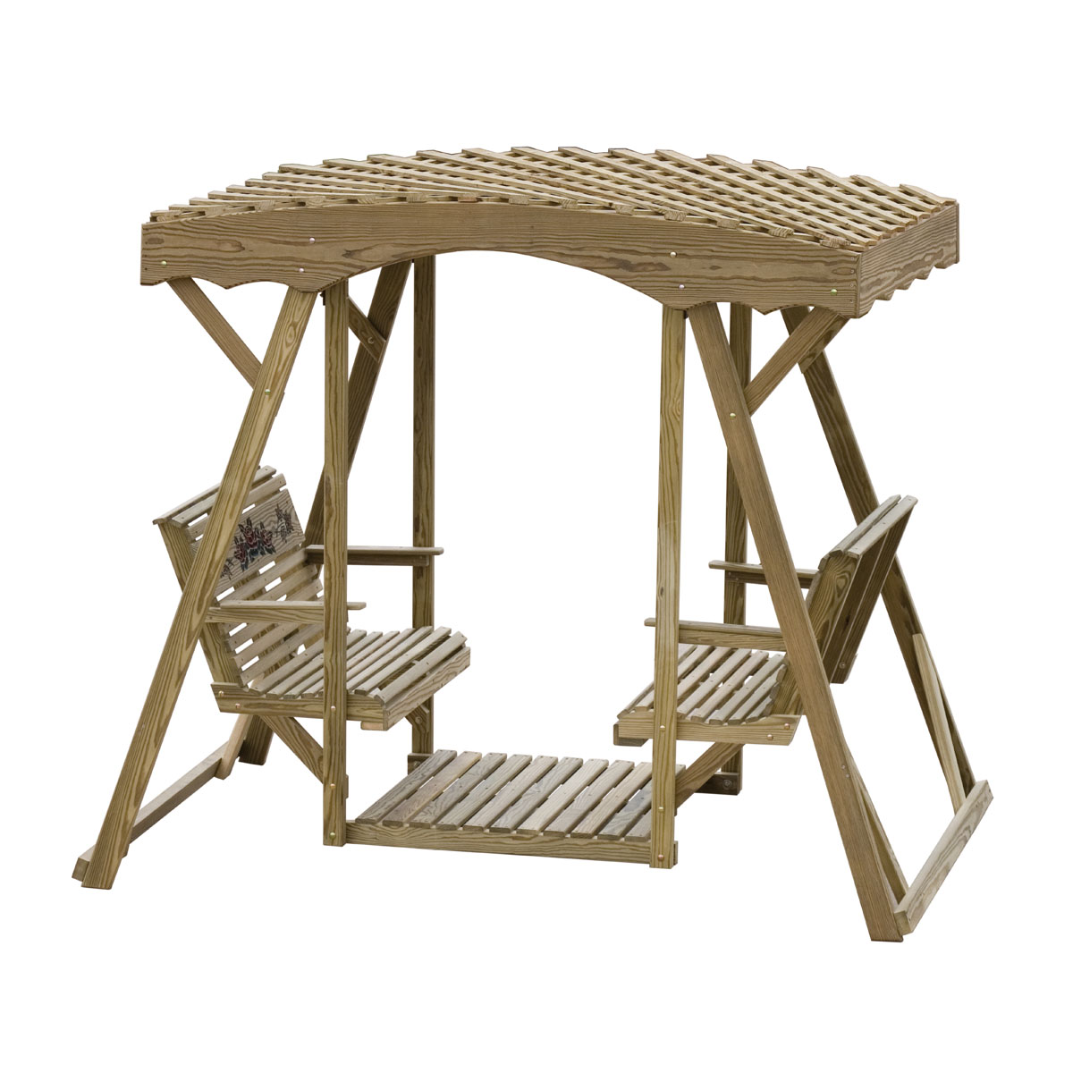 Double Lawn Glider Rose Lattice Roof Luxcraft