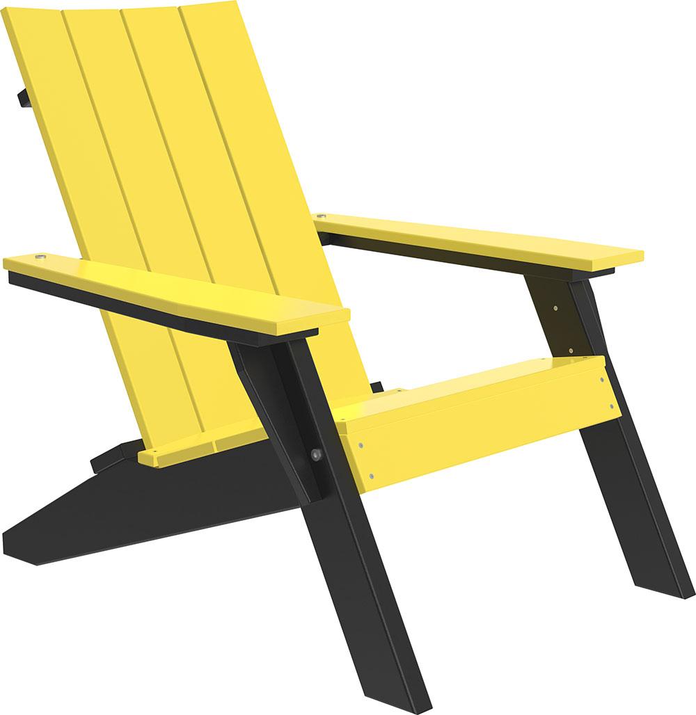 Luxcraft Poly Urbanadirondackchair Yellowblack Luxcraft